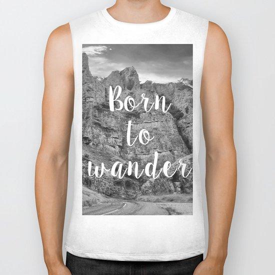 Born To Wander Biker Tank