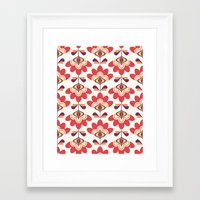 bianca green Framed Art Prints featuring Bianca by Just Kate Designs