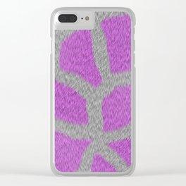 Giraffe in Pink Clear iPhone Case