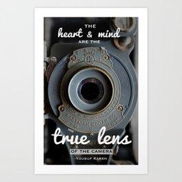Inspirational Photography Quote (Karsh) Art Print