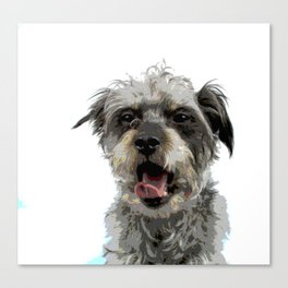 Yawning Dog Canvas Print