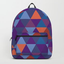 Purple Shade Pyramid Geometric Patterns Backpack