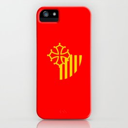 Languedoc Roussillon france country region flag iPhone Case