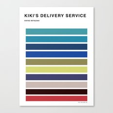 The colors of - kiki's delivery service  Canvas Print