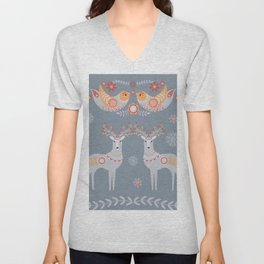Nordic Winter Unisex V-Neck