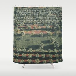 Italy Landscape, Drone photos, aerial photography, Puglia, countryside Shower Curtain