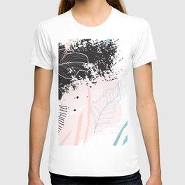 Exotic leaves on grunge background T-shirt