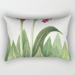 Primrose (Primula parryi) (1938) by Mary Vaux Walcott Rectangular Pillow