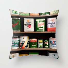 Old Cans Throw Pillow
