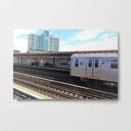 Astoria Subway Stop Metal Print