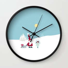 Santa and the little Angel Wall Clock
