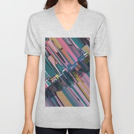 Abstract Composition 637 Unisex V-Neck