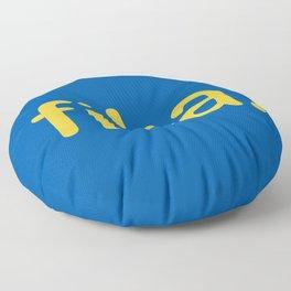 Fika Gul & Blå Floor Pillow