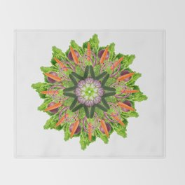 veggies mandala Throw Blanket