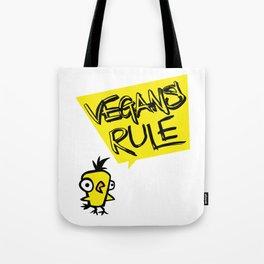 Vegans rule! Tote Bag