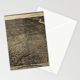 Bird's Eye View of St. Louis, Missouri (1876) Stationery Cards