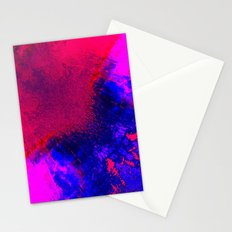 02-14-36 (Red Blue Glitch) Stationery Cards