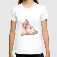 pig T-shirts featuring Pig by Marta Bocos