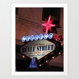 Beale Street, Memphis Art Print