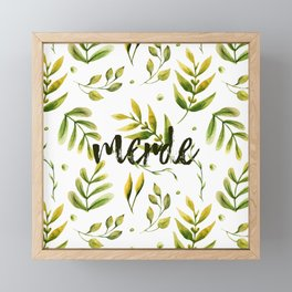 Merde Framed Mini Art Print