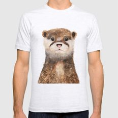 Little Otter SMALL Mens Fitted Tee Ash Grey