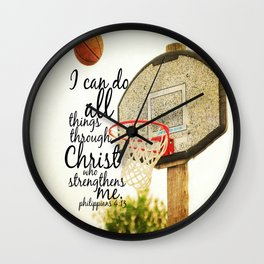 Philippians I can do all things Wall Clock