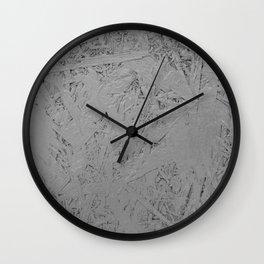 grey painted OSB Wall Clock