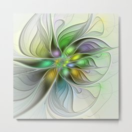 Colors Make My Day, Abstract Fractal Art Metal Print