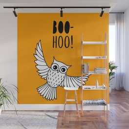 Funny owl Wall Mural