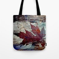 poem Tote Bags featuring Autumn Poem by A.K.H.