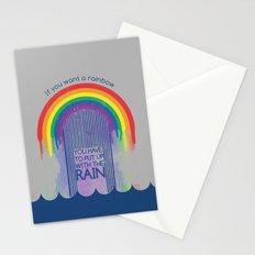 Rainbow Needs Rain Stationery Cards