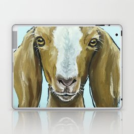 Goat Art, Cute Farm Animal Painting Laptop & iPad Skin