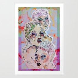 Three Crystalline Roses Art Print