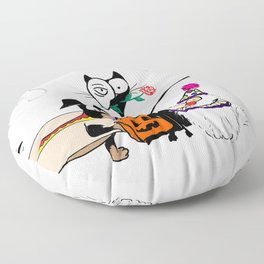 Trick Or Treat Floor Pillow