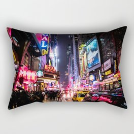New York City Night Rectangular Pillow