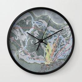 Stevens Pass Trail Map Wall Clock
