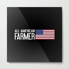 All-American Farmer Metal Print
