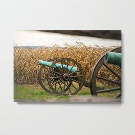 Cannon amongst the Corn Antietam National Battlefield Civil War Battleground Maryland Metal Print