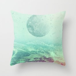 Under a Silicon Moon Throw Pillow