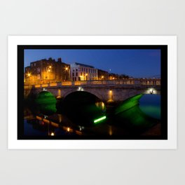 Dublin's River Liffey By Night Art Print
