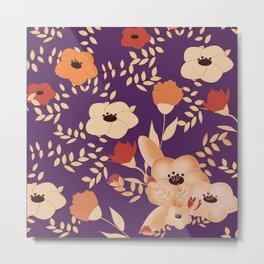 Classic Floral Print Metal Print