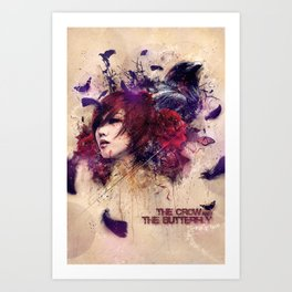 The Crow & The Butterfly Art Print