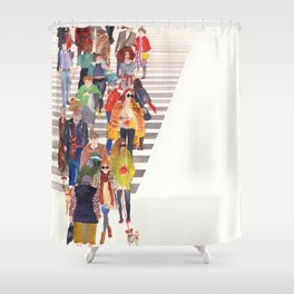 Zebra crossing Shower Curtain