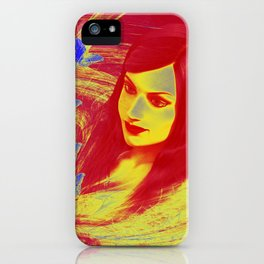 Butterfly wishes in red and yellow iPhone Case