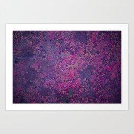 Pink Moss Art Print
