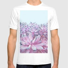 Sweet Succulents SMALL Mens Fitted Tee White