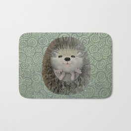 Cute Baby Hedgehog Bath Mat