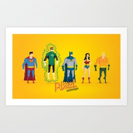 Justice League of America - Pixel Nostalgia Art Print