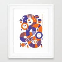 katamari Framed Art Prints featuring AXOR Heroes - Noby Noby Boy by Studio Axel Pfaender