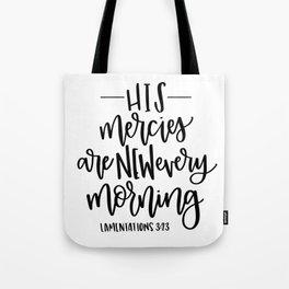 Lamentations 3:23 Tote Bag